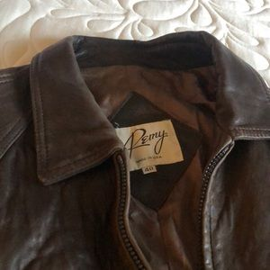 Perfectly patinated Remy leather bomber jacket